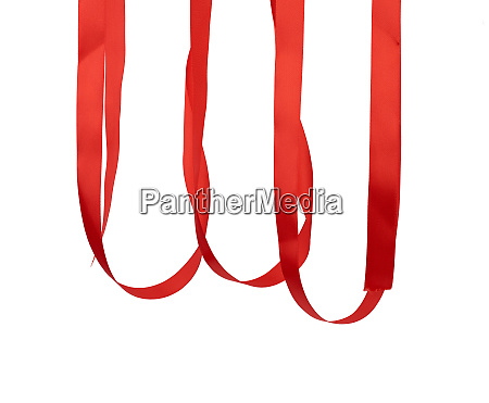 hanging red silk ribbon for packing