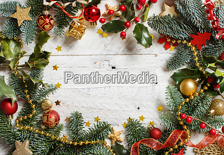 red and golden christmas decorations with