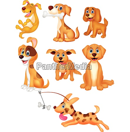 cartoon dogs collection set
