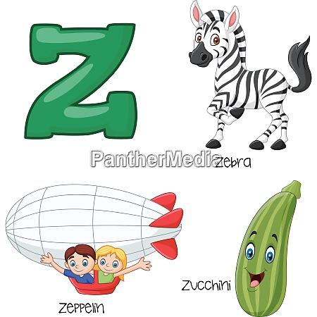 illustration of z alphabet