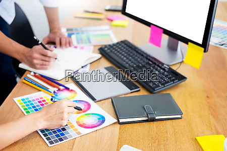 designer graphic creative creativity working together