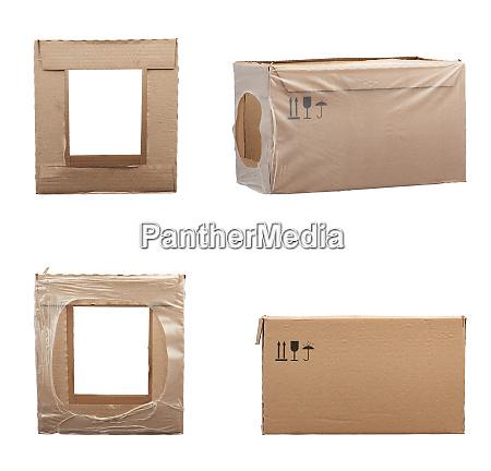 set of rectangular boxes made of