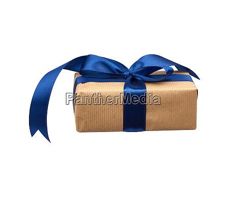 rectangular box wrapped in brown kraft