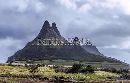 three mammals mountains on mauritius panorama
