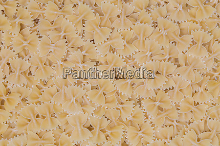 farfalle pasta as a texture background