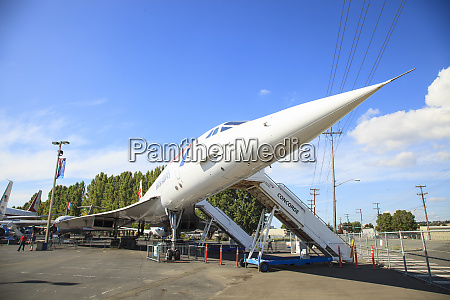 concorde supersonic aircraft at the museum