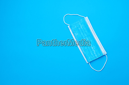 blue sterile medical mask with white