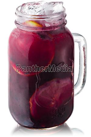 iced grape lemonade jar paths
