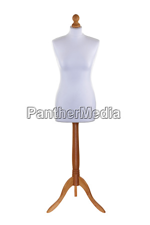 tailors dummy mannequin on white with