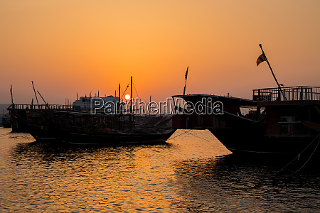 traditional dhows boats