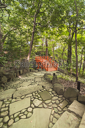 staircase paved leading to a japanese