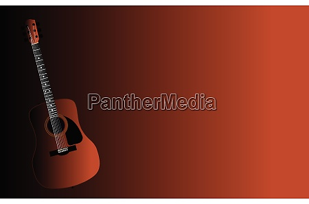 acoustic guitar faded background