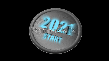 3d rendering of 2021 new year