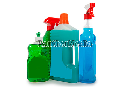 cleaners housekeeping supplies concept of