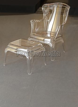 glass armchair