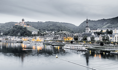 cochem panorama on the moselle germany