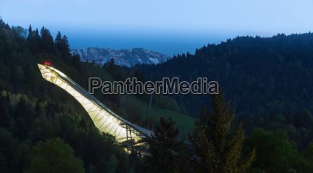 ski jump of garmisch partenkirchen bavaria