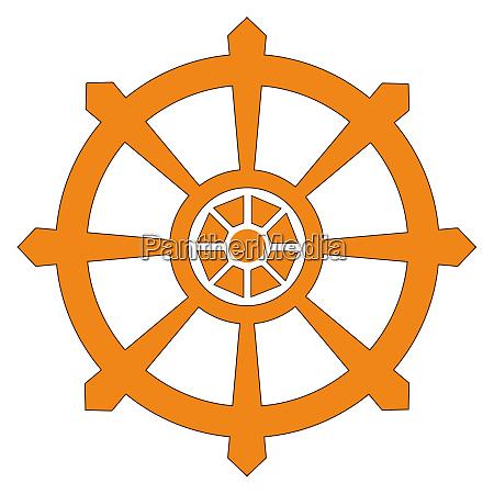 chakra buddhism wheel of dharma orange