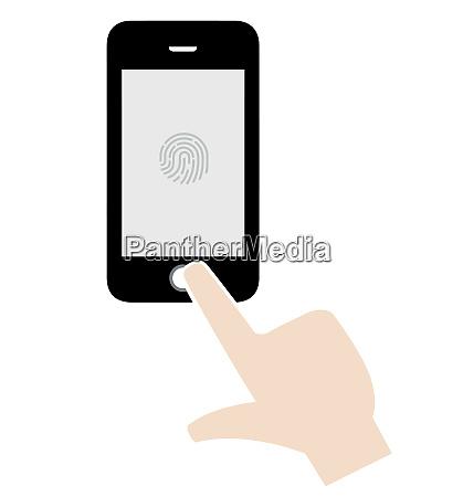 communication smartphone digital finger screen technology