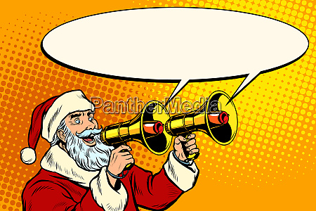 santa claus with a megaphone christmas