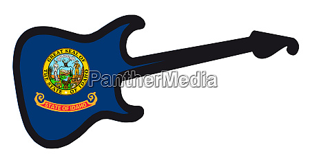 idaho state electric flag guitar