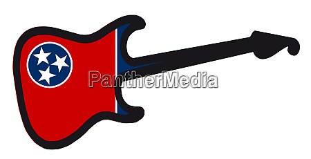 tennessee state electric flag guitar