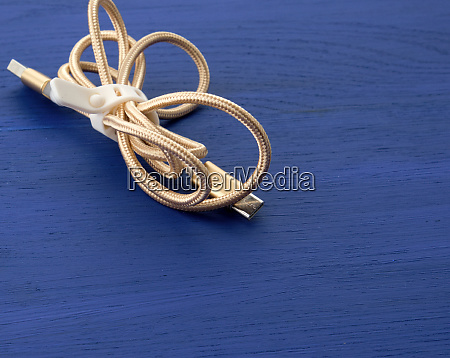 twisted golden cable for charging with