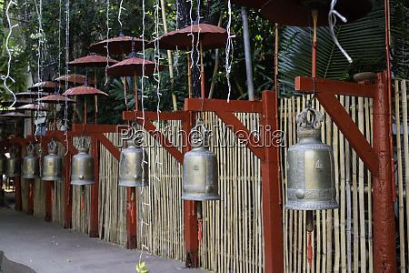 hanged many bells in thai public
