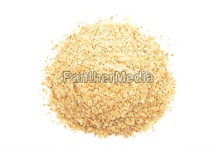 wheat germs on white background