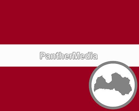 fahne und landkarte von lettland