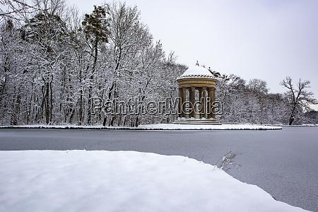 apollo temple at nymphenburg castle park