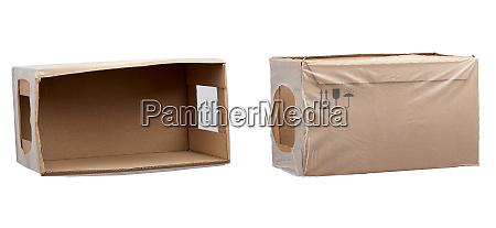 rectangular box wrapped in transparent polyethylene