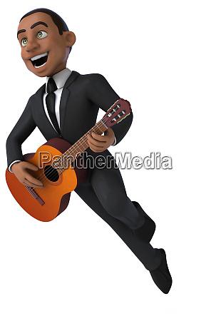 fun businessman 3d illustration