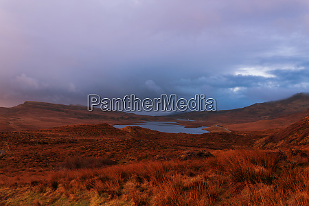 mountains at scottish highlands