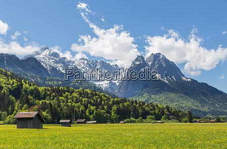 alps panorama garmisch partenkirchen bavaria germany