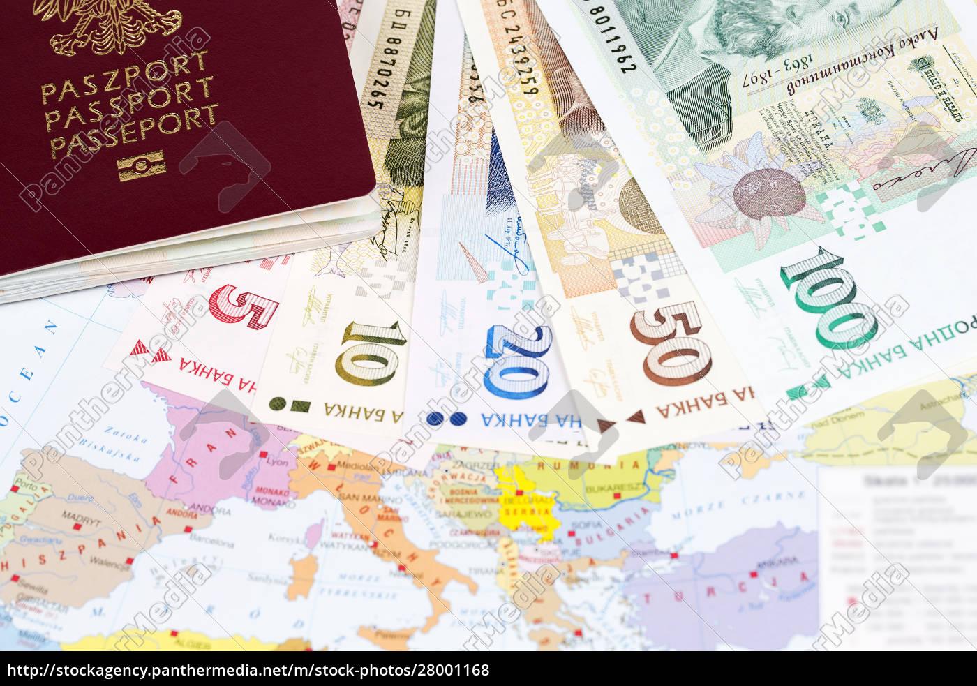 passport, with, bulgarian, money, on, the - 28001168
