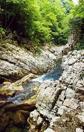 calore river near felitto in campania