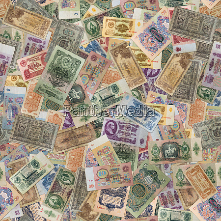 seamless texture of old banknotes