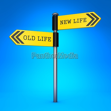 old life or new life concept