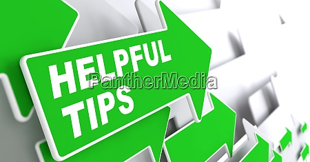 helpful tips business concept