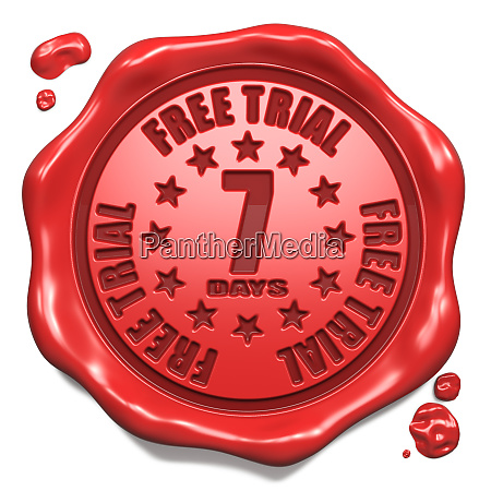 free trial 7 days stamp on