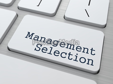 white keyboard with management selection button