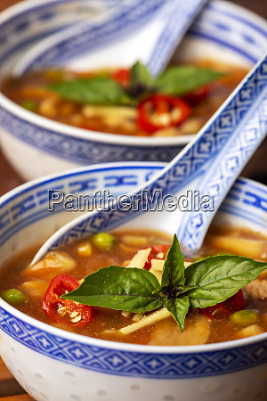 chinese sweet and sour soup on