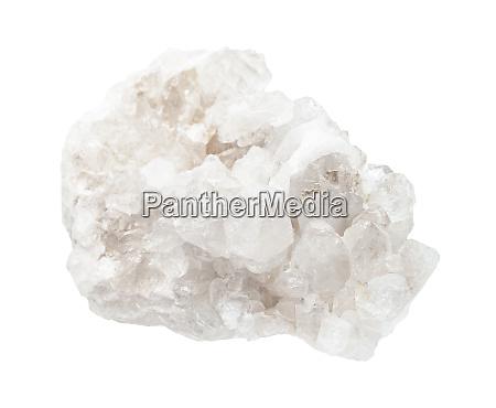 matrix of colorless rock crystals rock