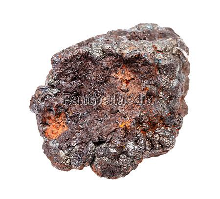 raw goethite stone isolated on white