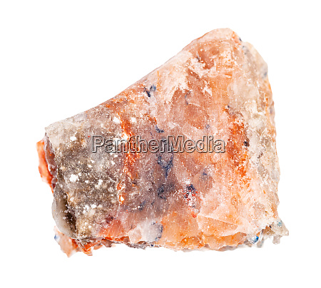 piece of rock salt halite isolated