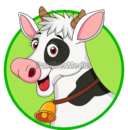 cute cow cartoon mascot