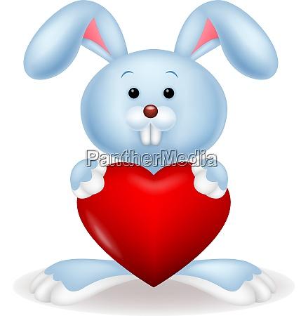 rabbit embrace heart love