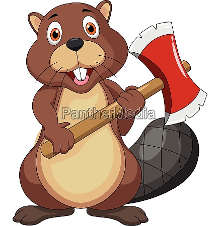beaver with axe