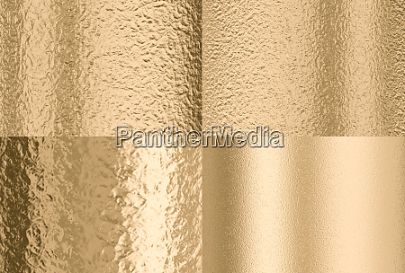 gold hammered effect background four different